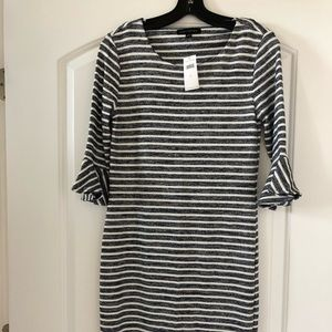 NWT. Banana Republic Striped Flutter Sleeve Dress